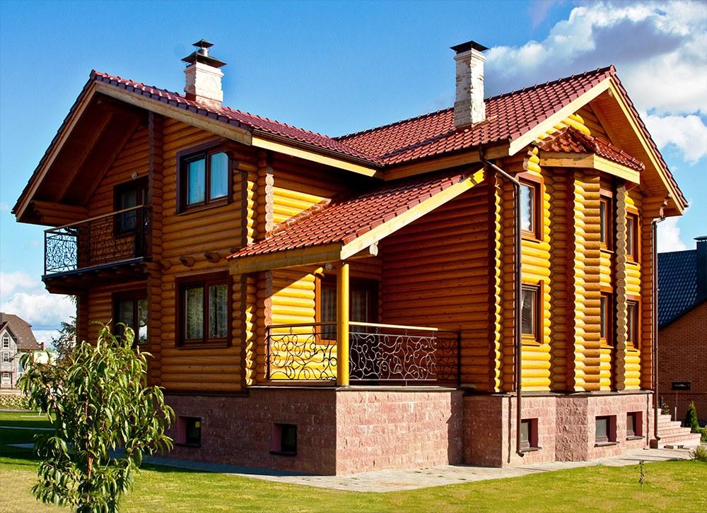 Luxushaus valtteri 194 m2 rundholz mit carport for Id maison bois