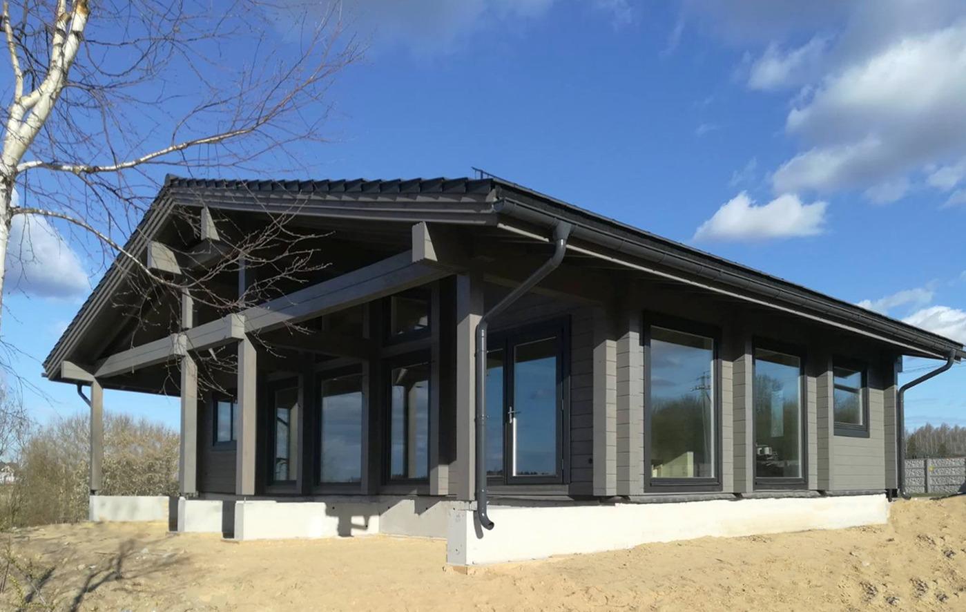 Skandinavische Holzhäuser holzhaus wiking 138 m2 massives kantholz mit profil im