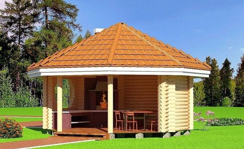 grillhaus aus holz 66 m2 rundholz preise auf anfrage. Black Bedroom Furniture Sets. Home Design Ideas