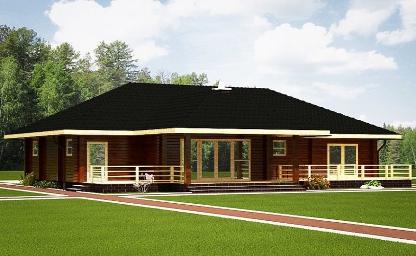 holzhaus bungalow 110 m garage 17 m massives kantholz mit profil preise auf anfrage. Black Bedroom Furniture Sets. Home Design Ideas