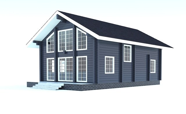 Haus aus Holz Hof - 148m2 - Brettschichtholz - Preise