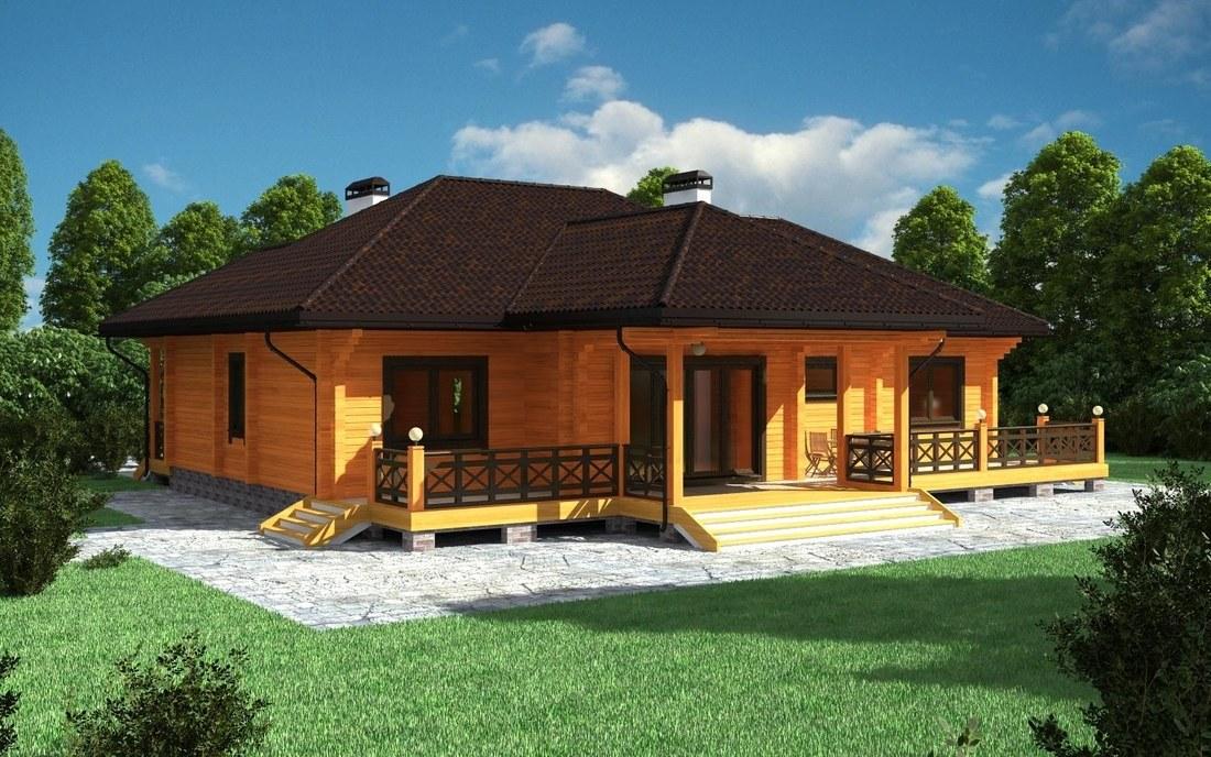 "Haus Aus Holz ""Wurzbach"""