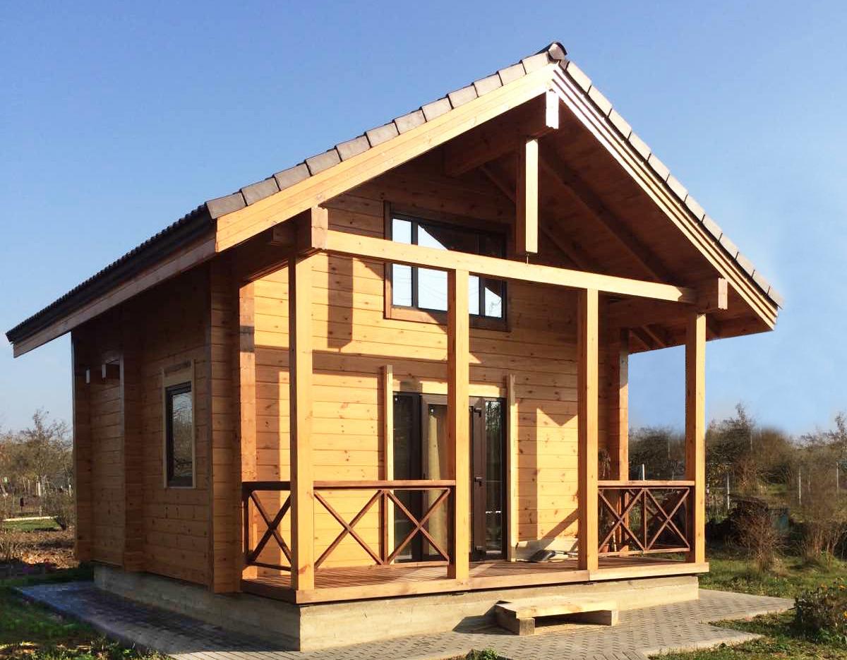 Holzhaus Eulenspiegel 48m2 Brettschichtholz Preise